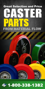 Caster-Parts.com Kingpinless, Swivel, Steel, Stem Casters & More from Material Flow & Conveyor Systems