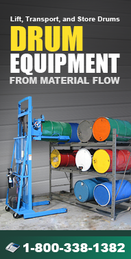 Drum-Equipment.com Drum Movers, Drum Dumpers, Drum Storage, Drum Tumblers, Drum Dollies and more from Material Flow