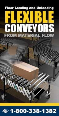 Flexible-Conveyors.com Flexible Skatewheel Conveyors, Used Conveyors, Extendable Belt Conveyors, Powered Roller Conveyors and more from Material Flow