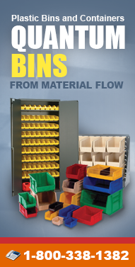 Quantum-Bins.com Storage Bins, Bulk Contains, Plastic Bins, Shelf Bins, Part Bins, Wire Shelving and more From Material Flow