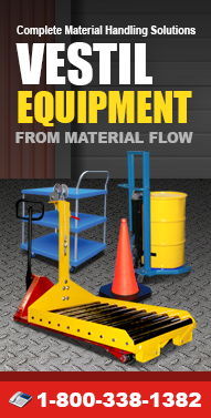 Vestil-Equipment.com Hoppers, Lift Equipment, Drum Handling Equipment, Ladders, Pallet Jacks, Casters and more from Material Flow